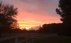 A September sunset lights up the sky just above and beyond the fields of the estate. Picture courtesy of 45 Parallel Consulting LLC.