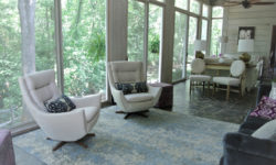 The Robertson House sun room overlooking Fishing Creek. Picture courtesy of 45 Parallel Consulting LLC.