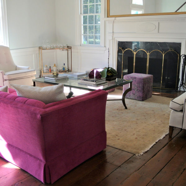 The sitting area at the Robertson House. Picture courtesy of 45 Parallel Consulting LLC.