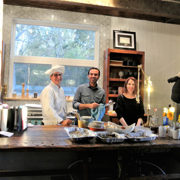 Our guest Chef and friends take over the estate's gourmet kitchen. Picture courtesy of 45 Parallel Consulting LLC.