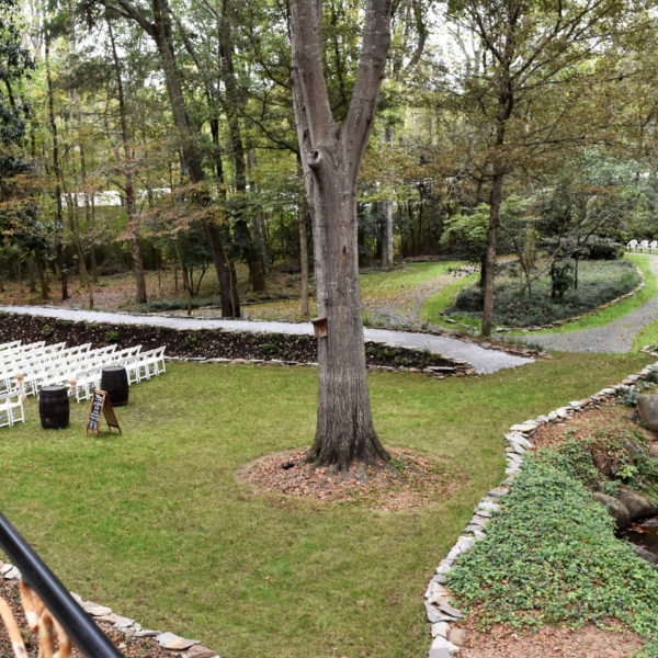 A view of the creek and walkway by the ceremony area. Picture courtesy of 45 Parallel Consulting LLC.