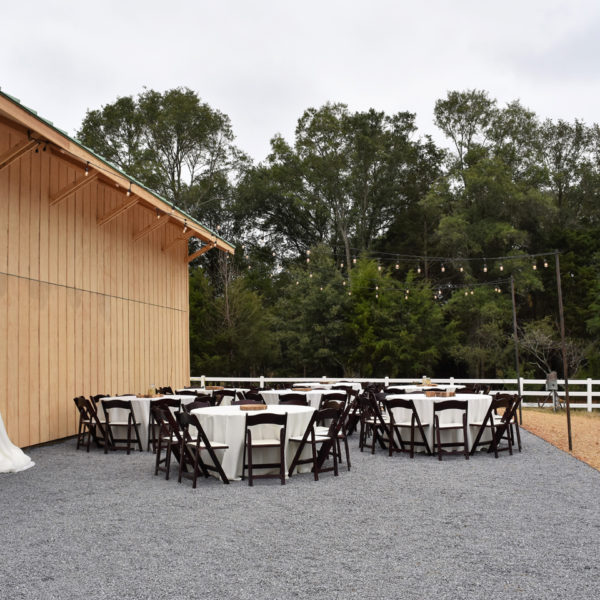 Additional seating and tables outdoors. Picture courtesy of 45 Parallel Consulting LLC.