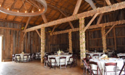 Tables and seating within the barn. Picture courtesy of 45 Parallel Consulting LLC.