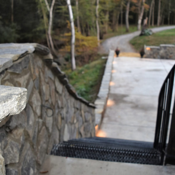 Steps toward the lower patio area. Picture courtesy of 45 Parallel Consulting LLC.