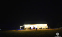 The barn at nightfall. Picture courtesy of 45 Parallel Consulting LLC.