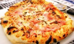 Pizza, made fresh in our wood burning oven. Picture courtesy of 45 Parallel Consulting LLC.